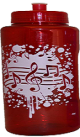 Music Notes Water Bottle (Red)